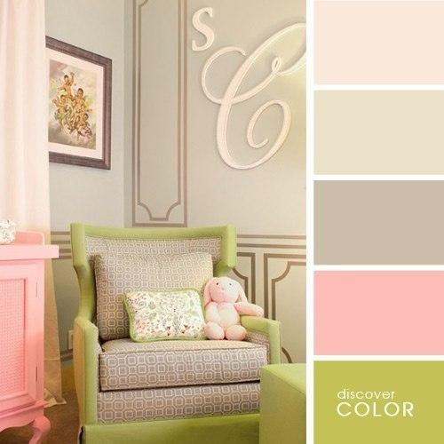 Идеальные сочетания цветов для дизайна интерьера.