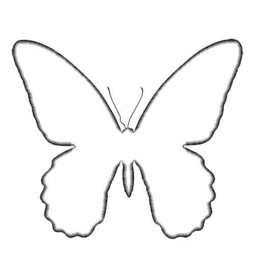 Шаблоны бабочек для украшения стен 3
