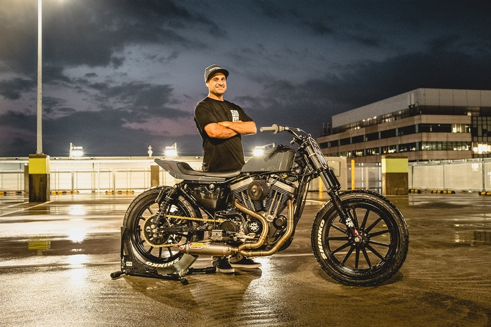 Fabtech Creations: кастом Harley Davidson 1200 Sportster Super Hooligan