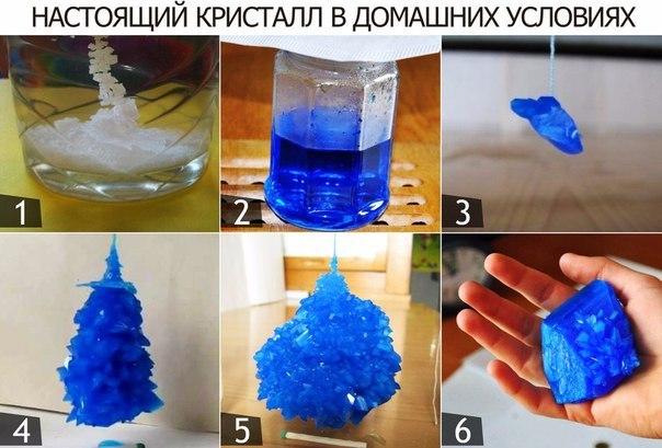 Как в домашних условиях из соли сделать кристалл из