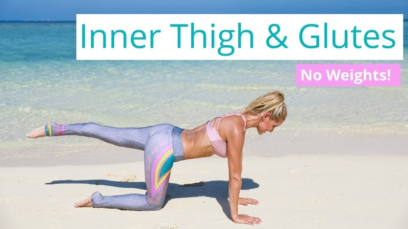 Inner Thigh Glute Workout - TONE LEGS AND BUTT| Rebecca Louise