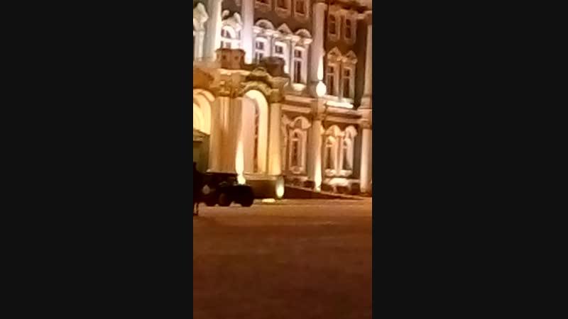 ночная репетиция парада