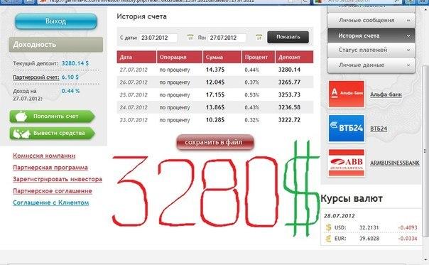 Отчет с 23.07.2012 по 27.07.2012