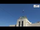 Военнослужащие Минобороны РФ подняли государственный флаг России над наблюдательным постом у Голанских высот, вблизи границы Сир