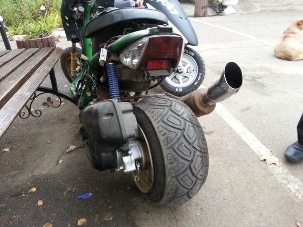 Как своими силами сделать колесо разварка на скутер сузуки адрес 100 кубов