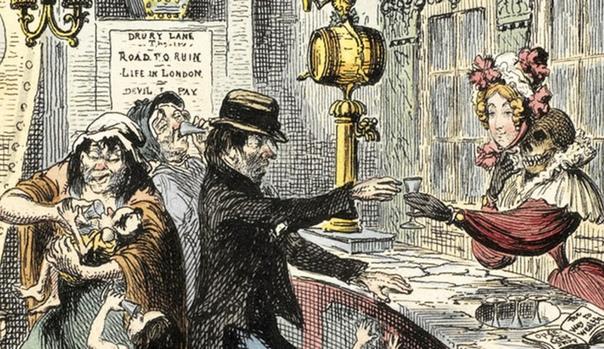 Как Лондон чуть не погубил дешевый алкоголь. Эпидемия джина.