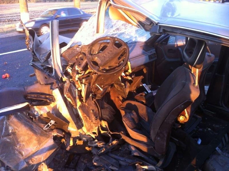ДТП на трассе «Ростов-Таганрог»: Daewoo Nexia столкнулась с Audi 100, двое погибли, один ранен