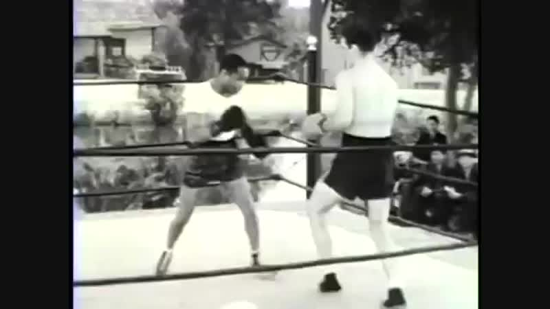 Billy Conn and Henry Armstrong sparring for The Pittsburgh Kid