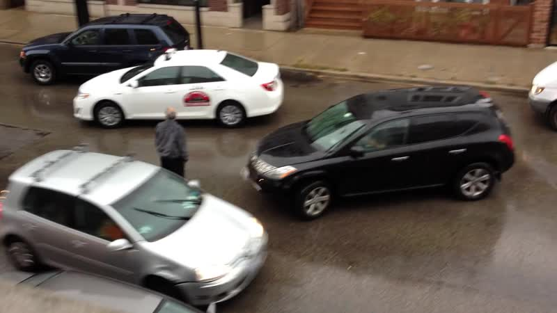 Poorly Attempted HIT and RUN.... Cab Drive Gets Revenge!! Driver Smashes six Cars