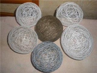Сделаю на заказ шары из ниток - интересная идея для украшения любого помещения как на праздник, так и в дом .