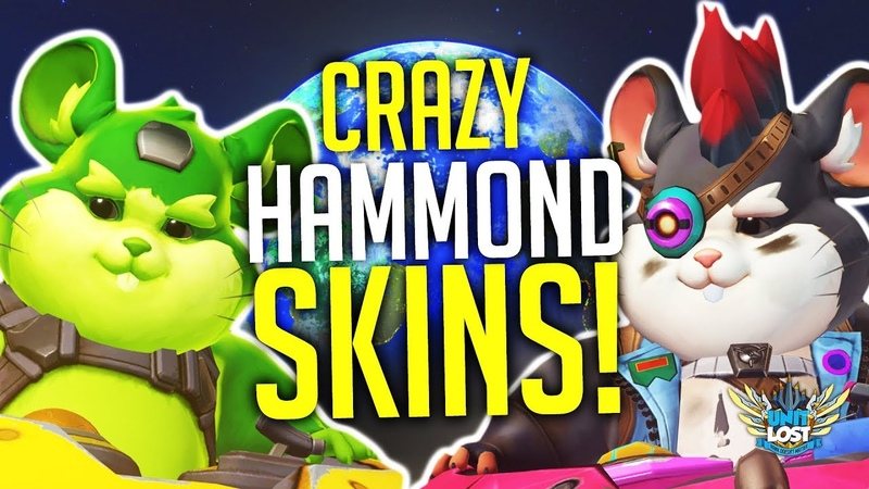 Overwatch - ALL Hammond Skins and Items! (Wrecking Ball Cosmetics!)