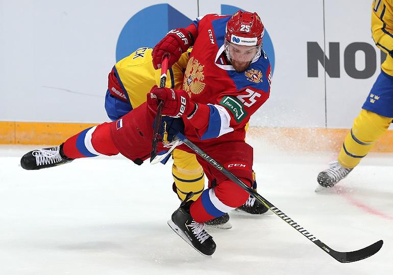 Россия по буллитам победила Швецию на матче Кубка Первого канала (Видео)