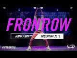 Matias Monti  FRONTROW  World of Dance Argentina Qualifier 2016  #WODARG16