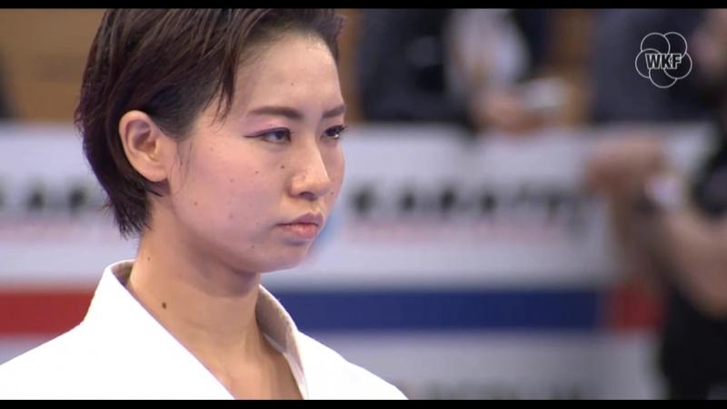 Бронзовый финал женского ката German Open 2018: Нацуки Шимизу (Япония) - Эмири Ивамото (Япония)