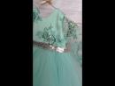 Мятное платье на годик