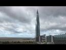 Лахта Центр тучи облака
