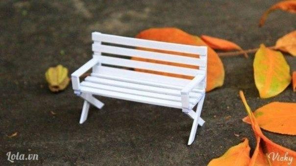 Как сделать мини скамейку из палочек своими руками