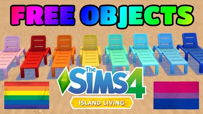 350 New Door Swatches Free Base Game Lounge Chair and Pride Flags (The Sims 4 Island Living Patch)