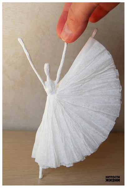 Как сделать пачку балерины своими руками из бумаги
