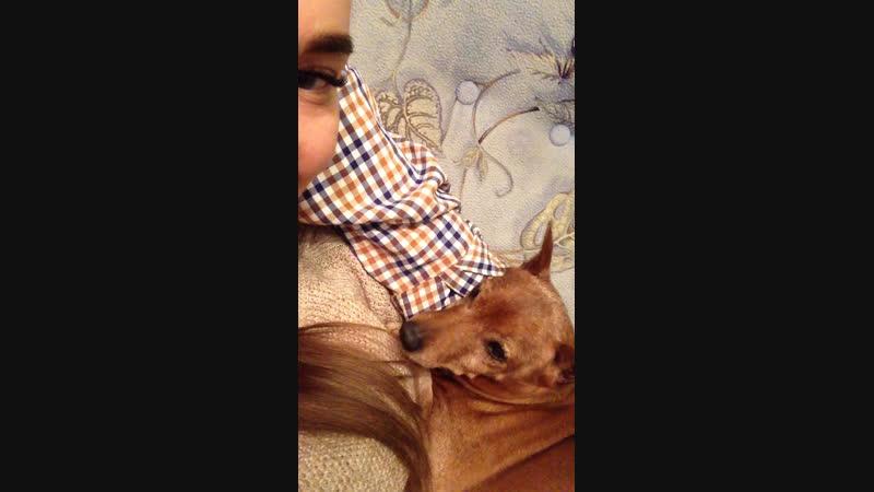 Спит на ручках моя Сопелочка 😌💋♥️