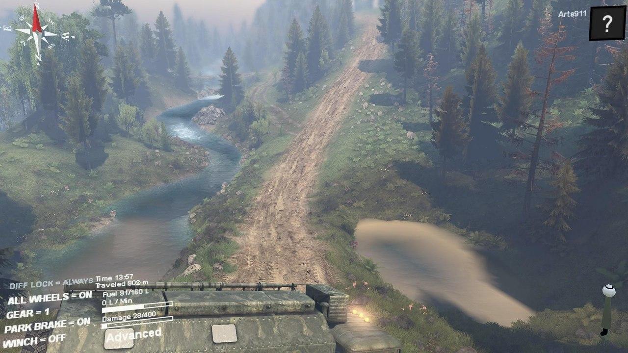 """Карта """"Hilldelivery"""" для 25.12.15 для Spintires - Скриншот 2"""