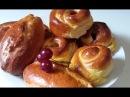 Два вида вкусных пирожков с вишней дрожжевое тесто
