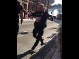 Officer Hard style Dance - The Freimarkt parade in bremen