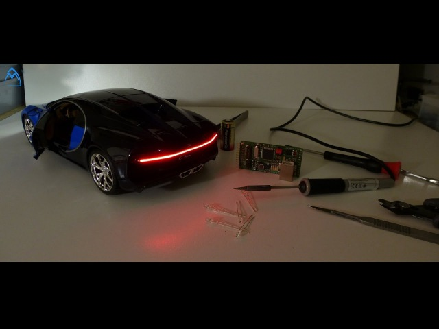 Hot to make Mini Bugatti Chiron 118 LED Light Diecast Car DIY Tutorial