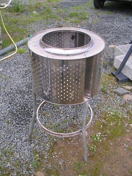 Делаем барбекюшницу из старой сломанной стиральной машины. #DIY_Идеи