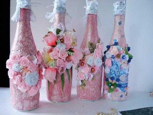 Бутылка с шампанским украсить своими руками на