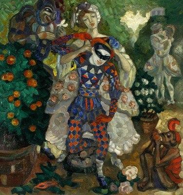 Григорий Судейкин. Пантомима. 1914