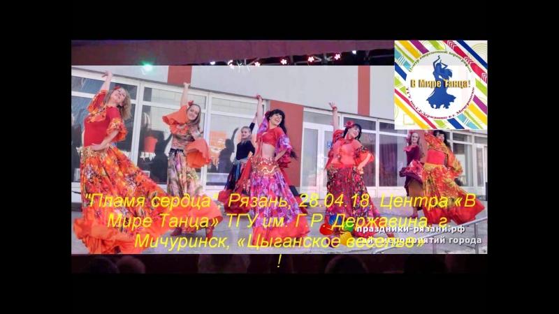 Пламя сердца, Рязань, 28.04.18 - ансамбль В Мире Танца ТГУ «Цыганское веселье»