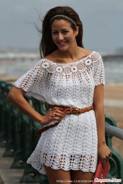 Ажурное платье (10 фото) - картинка