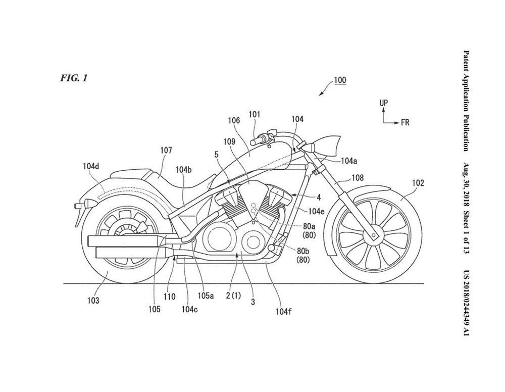 Компания Honda планирует круизёр с двумя сцеплениями?!