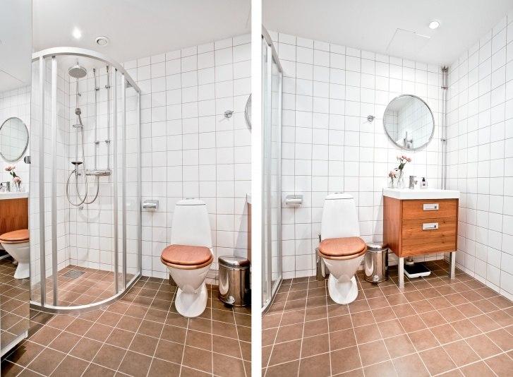 Квартира-студия 27 м в Европе с откидной горизонтальной кроватью.