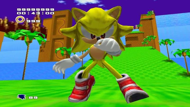 SuperSonic in Sonic Adventure-2 Battle (Steam Version) Gameplay