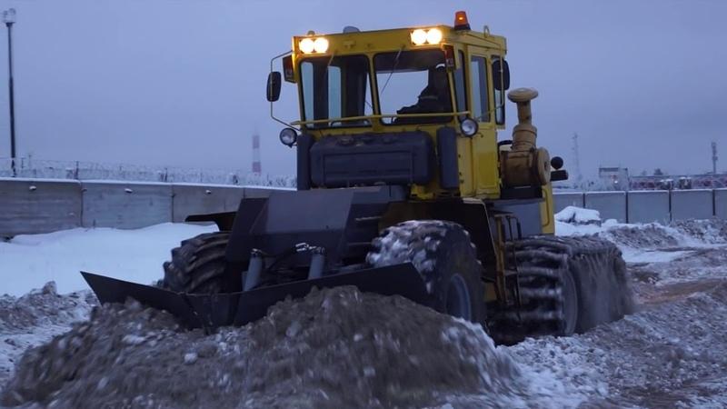 Трёхосник Кировец для зимника короткое видео для презентации