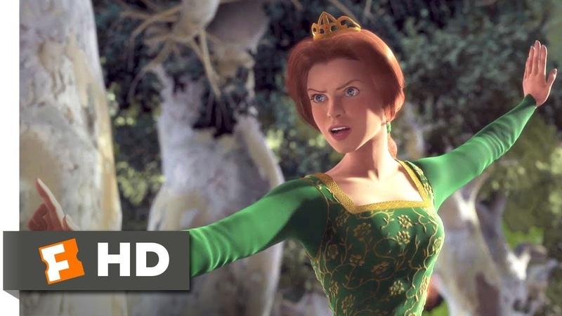 Shrek (2001) - Princess vs Merry Men Scene (610) | Movieclips