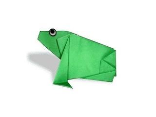 Cách gấp, xếp con ếch, cóc bằng giấy origami - Video hướng dẫn xếp hình