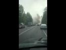 Газель под Красноярском горит