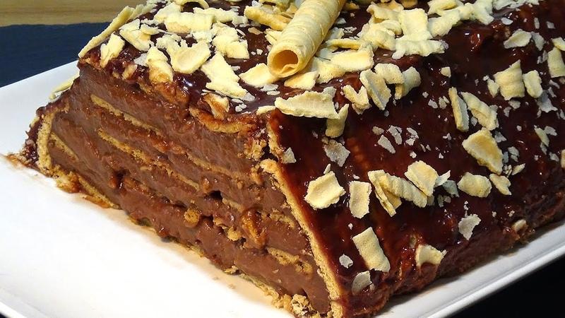 Receta Tarta flan de Nutella con galletas súper fácil - Recetas de cocina, paso a paso, tutorial