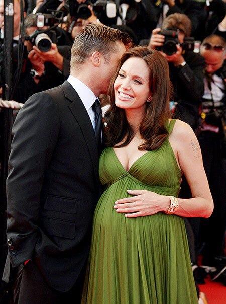 Кто беременный от брэда питта