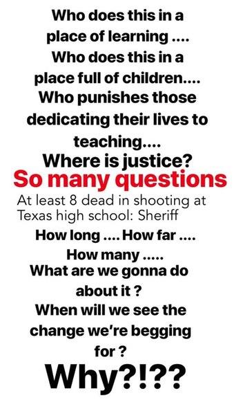 Майли опубликовала пост, посвящённый недавней стрельбе в школе Техаса: