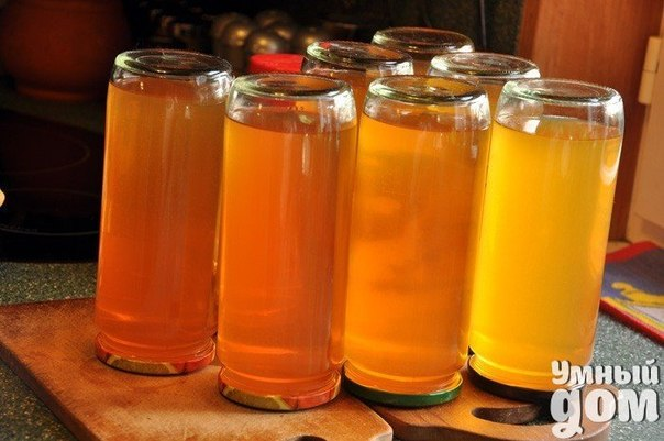 Коллекционируем рецепты заготовок на зиму! Яблочный муст Натуральный яблочный сок из первых паданцев. Ингредиенты: яблоки – необходимое количество Способ приготовления: Для приготовления использовать яблоки-паданцы любых сортов. Промыть их, начистить, вырезать сердцевину, измельчить в комбайне и отжать сок (либо в соковыжималке). Дать соку постоять, затем нагреть его до девяноста градусов, снимая пену, налить в чистые бутылки, их укупорить, выдержать под одеялом. Умный дом и все, что в нем...