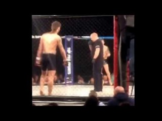 Coward MMA fighter TAPS OUT in under one SECOND!