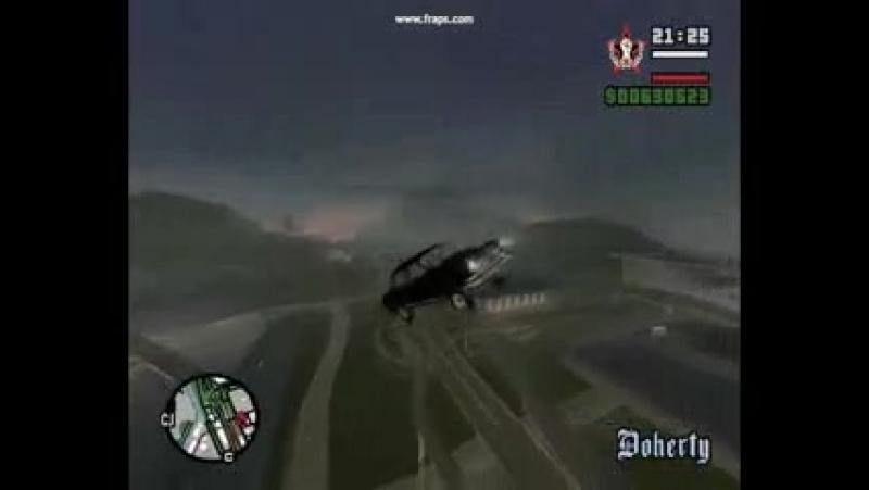 Прикол Черная Молния в GTA San Andreas