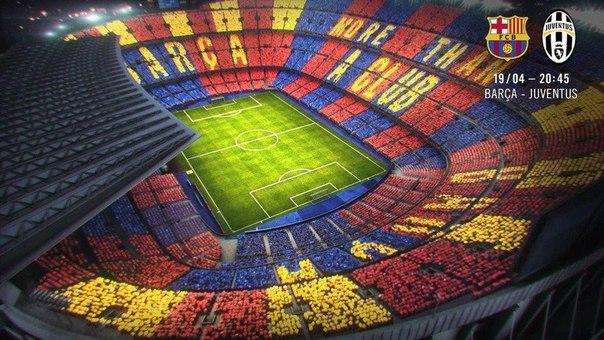 """В ответном матче против """"Ювентуса"""" свыше 90.000 болельщиков """"Барселоны"""" построят..."""