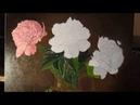 Рисуем пионы Цветные слои многослойная живопись часть 3