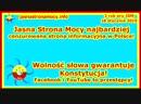 JSM najbardziej cenzurowana strona informacyjna w Polsce Wolność słowa gwarantuje Konstytucja! Facebook i YouTube to przestępcy