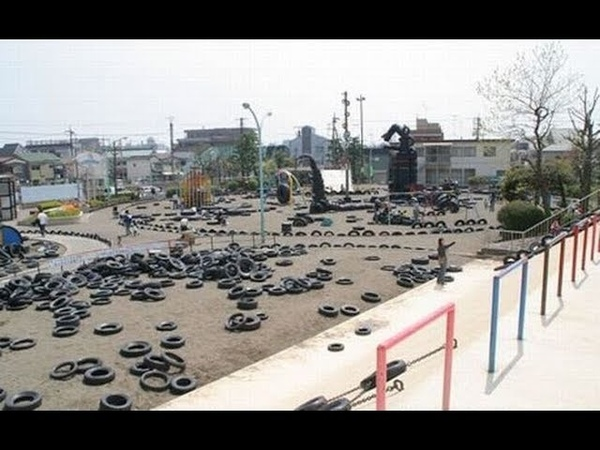 The Unusual Tire Park In Tokyo